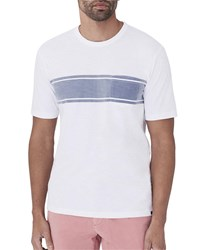 Faherty Striped Pocket T Shirt White Pattern