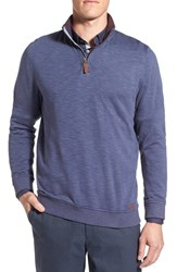 Ted Baker Men's London 'Mandra' Quarter Zip Pullover Dark Blue