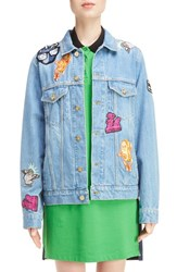 Kenzo Women's Patch Stone Wash Denim Jacket