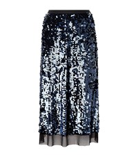 Tory Burch Cove Sequin Skirt Female Blue