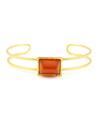 Gerard Yosca Mesa Ten Stone And 18K Gold Plated Cuff Bracelet