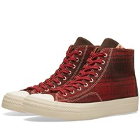 Visvim Skagway Hi Buffalo Check Red