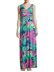 Lilly Pulitzer Sloane Floral Printed Gown Multi Sea Salt And Sun