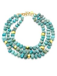 Nest Amazonite Triple Strand Necklace