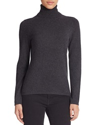 Lord And Taylor Cashmere Turtleneck Sweater Charcoal Heather