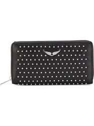 Zadig And Voltaire 'Compagnon Studs' Wallet Black