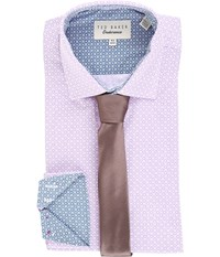 Ted Baker Tucker Endurance Sterling Shirt Purple Men's Clothing