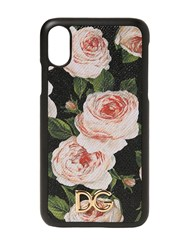 Dolce And Gabbana Floral Print Leather Iphone X Case Multicolor