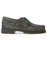 Timberland Black Mono 3 Eyes Nubuck Boat Shoes