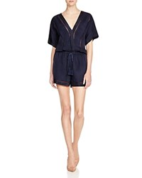 Twelfth St. By Cynthia Vincent Twelfth Street By Cynthia Vincent Framed Crossover Romper Indigo