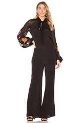 Free People Smoke Ring Jumpsuit Black