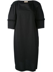 Wunderkind Half Sleeve Shift Dress Women Cotton 40 Black