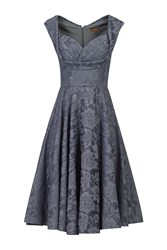 Jolie Moi Ruched Crossover Bust Prom Dress Grey