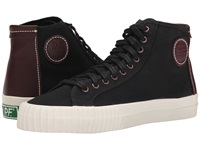 Pf Flyers Center Hi Black Twill Leather Men's Shoes