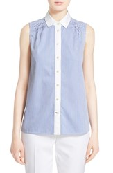 Women's Kate Spade New York Stripe Sleeveless Peplum Back Shirt