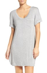 Honeydew Intimates Women's Rib Sleep Shirt Heather Grey