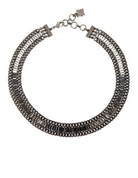 Bcbgmaxazria Baguette Stone Necklace Black