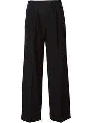 Jean Paul Gaultier Vintage Cropped Wide Leg Trousers Black