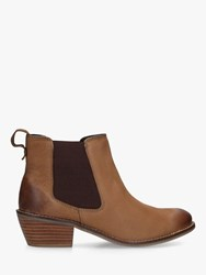 Carvela Comfort Rink Western Style Leather Ankle Boots Brown