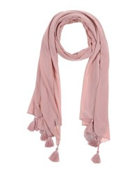 Fly Girl Accessories Oblong Scarves Women Pastel Pink