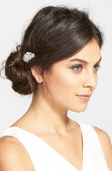 Nina Dramatic Cubic Zirconia Hair Pin Silver