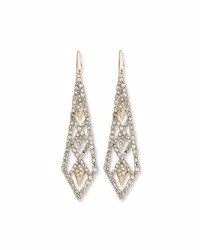 Alexis Bittar Crystal Lattice Drop Earrings