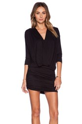 Dolan Cross Front Dress Black