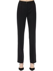 Dolce And Gabbana Stretch Wool Pants Black