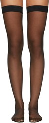 Wolford Black Individual 10 Stay Up Stockings