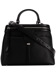 Tod's Zipped Compact Tote Black