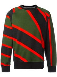 House Of Holland Umbro Striped Sweatshirt Green