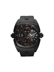 Cyrus Klepcys Chrono Skeleton Dark And Red 46Mm Black And Red
