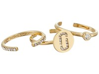 Marc Jacobs Double J Pave Ring Set Crystal Gold Ring