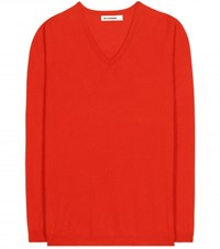 Jil Sander Cashmere Sweater Red