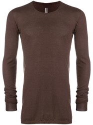Rick Owens 100 Cashmere Sweater Brown