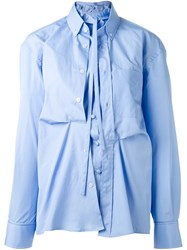 Golden Goose Deluxe Brand Double Poplin Shirt Blue
