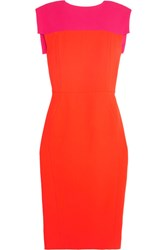 Antonio Berardi Two Tone Stretch Cady Dress Pink