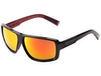 Dragon Alliance Double Dos Jet Red Ion Sport Sunglasses Black