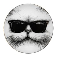 Rory Dobner Perfect Plates Cool Cat Black And White