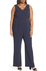 947744cfba1 Chelsea 28 Plus Size Women s Chelsea28 Bow Shoulder Jumpsuit Navy Sapphire