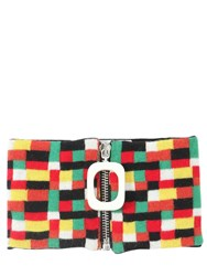 J.W.Anderson Zip Up Wool Knit Neckband Multicolor