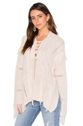 Goddis Ryley Lace Up Sweater Cream