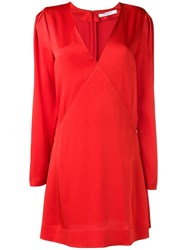 Givenchy Long Sleeve Mini Dress Red