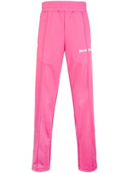 Palm Angels Side Stripe Joggers Pink And Purple