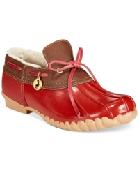 Sporto Pamela Waterproof Duck Booties Women's Shoes Red