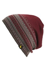 Eddie Bauer Ilaria Men's Eddie Bauer 'Ilaria Urbinati Collection Deer Valley' Beanie Burgundy Dark Berry