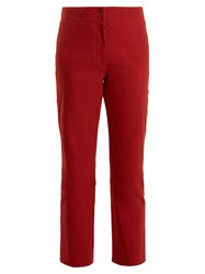 A.P.C. Iggy Straight Leg Cropped Cotton Twill Trousers Light Red