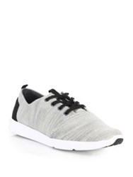 Toms Del Rey Textured Woven Sneakers Grey