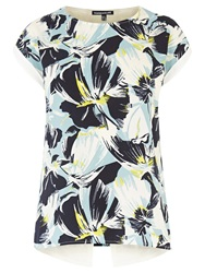 Warehouse Matisse Floral Wrap Tee Multi