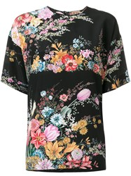 N 21 No21 Floral Printed Blouse Women Silk 40 Black